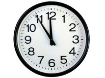 Round wall clock Stock Photos