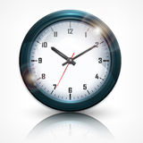 Round wall clock on white Royalty Free Stock Photography