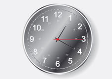 Round wall clock  Illustration Royalty Free Stock Photography