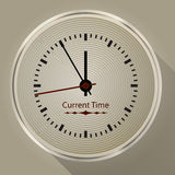 Round wall clock with long shadow Royalty Free Stock Photos