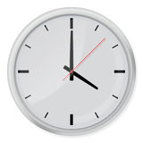 Round wall clock with shadows  on white background. Stock Photography