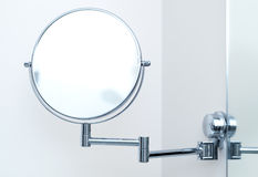 Round wall mirror for the bath Royalty Free Stock Images
