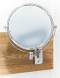 Round wall mirror for the bath Stock Images