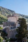 Round Walls of Dubrovnik Croatia Stock Photo