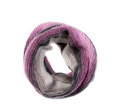 Round warm knitted scarf Royalty Free Stock Images