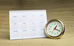 Round watch with calendar Stock Photo