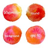 Round water color backgrounds .vector illustration Stock Photography