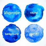 Round water color backgrounds .vector illustration Royalty Free Stock Photo