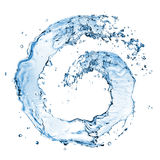 Round water splash isolated Royalty Free Stock Photos