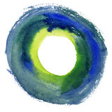 Round watercolor frame, circle shape form . Royalty Free Stock Images