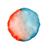Round watercolor spot Royalty Free Stock Photos