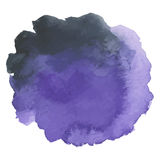 Round watercolor stains on white background Royalty Free Stock Image