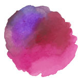 Round watercolor stains on white background Stock Photo