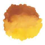 Round watercolor stains on white background Stock Photography