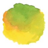 Round watercolor stains on white background Royalty Free Stock Images