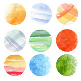 Round watercolor Royalty Free Stock Image