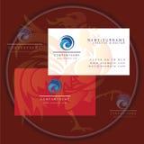 Round wave business card logo. Symbol stock illustration