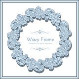 Round wave frame Stock Photo