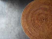 Round Weave Mat Background Royalty Free Stock Images