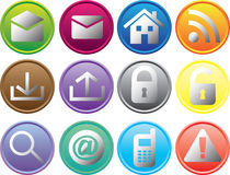 Round Web Buttons Royalty Free Stock Photography