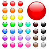 Round Web Buttons Royalty Free Stock Photo