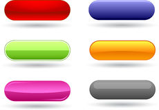 Round web buttons Stock Image