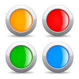 Round web buttons. Round color web buttons set Stock Photos