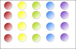 Round Web Buttons in Five Different Colors Royalty Free Stock Photo