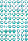 Round web icons / buttons Royalty Free Stock Photography