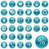 Round web icons / buttons 2 Stock Images