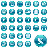 Round web icons / buttons 3 Stock Images