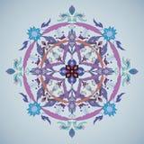 Round wektorowy ornament Kwiatu okręgu element Zdjęcia Stock