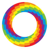 Round wheel circle with rainbow colors, vector. Background of round wheel circle with rainbow colors, vector Royalty Free Stock Image
