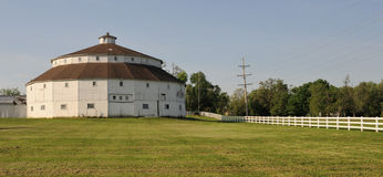 Round white barn Stock Images