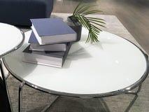 Round White Coffee Tables Royalty Free Stock Photos