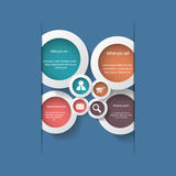 Round white infographic elements with various Royalty Free Stock Photo