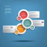 Round white infographic elements Stock Image
