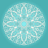 Circular turquoise pattern Royalty Free Stock Photography