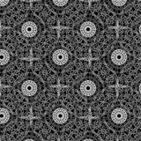 Round white napkin design Stock Images