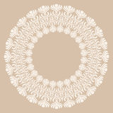 Round white ornament frame Royalty Free Stock Images