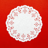 A round white pattern paper Royalty Free Stock Photo