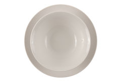 Round white plate and bowl Royalty Free Stock Photo