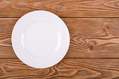 Round white plate Stock Photo