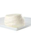 Round white soft cheese Stock Photography