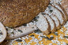 round wholemeal bread Royalty Free Stock Photography