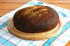 Round wholemeal loaf. Stock Photo
