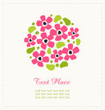 Round wiązka kwiaty Śliczny kwiatu bukiet Może używać dla powitania i ślubnych kart, prezenty, pocztówki, zaproszenia Round sha royalty ilustracja