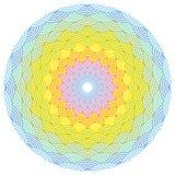 Round wianku składu tęczy rama skali natury tęczy prosty tło z azjata fali okręgu wzoru zieleni koloru żółtego pomarańcze royalty ilustracja