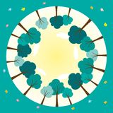 Round świat z drzewami Zdjęcia Royalty Free