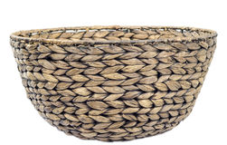 Round wicker basket Royalty Free Stock Photo